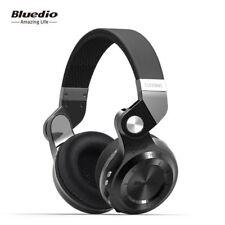 Bluedio T2+ Stero Wireless Bluetooth Mic Headset FM,SD Card Slot Headphone Black