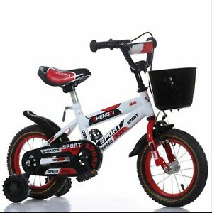 TOG 14 Zoll Speed Kinderfahrrad  Rücktrittbremse Stützräder Korb ROT