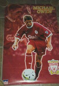 "Michael Owen, Liverpool Football Club, 1998 Starline Poster used, 22x34"", soccer"