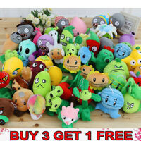Plants vs Zombies Figures Plush Baby Staff Toy Stuffed Soft Doll 13CM-35CM US