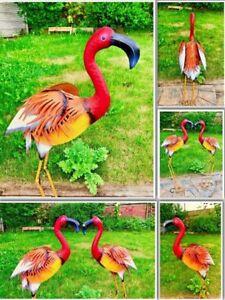 Large Orang Flamingo Metal HandMade Ornament Sculptur IndoorOutdoor Pond Garden