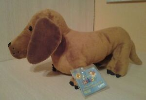 "Ganz Cinnamon Dachshund Hm421 Full Sized 12"" Puppy Dog Plush Sealed Code NWT"