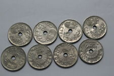 SPAIN 25 CENTIMOS 1937 - 8 COINS LOT SOME IN HIGH GRADE B10 WM35