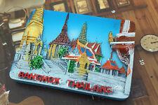Bangkok Thailand Reiseandenken Reise Souvenir 3D Polyresin Kühlschrankmagnet