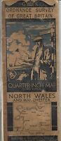 Vintage King George Reign OS of Great Britain North Wales and Manchester Map