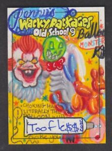 Topps Wacky Packages 2020 Old School 9 TOOFLE$$ Sketch Card PENNY'S
