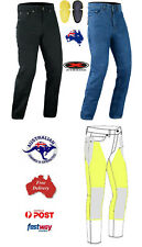 *FREE POSTAGE* MENS MOTORBIKE MADE WITH KEVLAR® JEANS WITH SIZES & COLORS