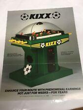 Ice Inc. KIXX Original 1985 NOS Table Top Soccer Arcade Game Promo Sales Flyer