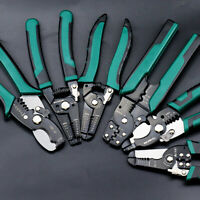 Wire Stripper Cable Cutting Scissor Stripping Pliers Cutter Crimping Tool Plier