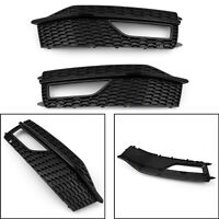1Pair Bumper Fog Light Lamp Cover Grille Grill For Audi A4 S-line S4 2013-15/A5