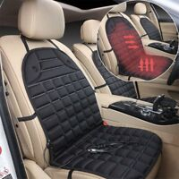 Black 12V Car Seat Hot Cover Heater Heated Pad Massage Cushion Cover Uo