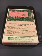 RARE 8 Track Tape Great Country CHRISTMAS Hits Hershel Witt Used VG Untested FS
