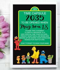 Elmo Sesame Street 1st Birthday Time Capsule Print Party Decoration One - First