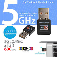 600Mbps AC600 Dual Band 2.4Ghz 5Ghz USB WiFi Dongle Wireless Lan Network Adapter