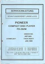 Pioneer  Service Manual für PD- Z 82M