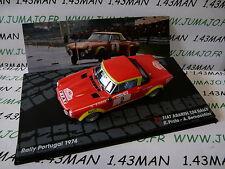 voiture 1/43 IXO Altaya Rallye ITALIE : FIAT Abarth 124 Rally Portugal 1974