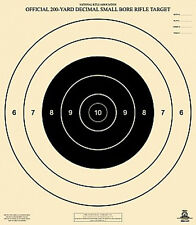 """Official NRA A-21 [A21] 200-Yard Decimal Small Bore Rifle Target [21""""x24""""] (100)"""
