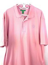 Mens Pink Polo Shirt XXL World Golf Championship