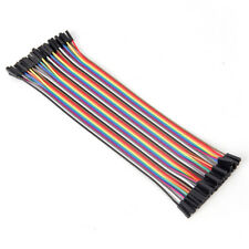 40pcs 20cm 2.54mm female to female breadboard jumper wire cable for  n Gn