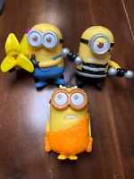 3 Minions McDonalds Happy meal Toys