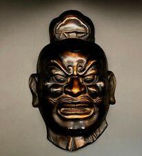 "Japanese old ""Nio"" vintage iron made/Antique oni noh god hannay"