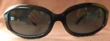 True Vintage Black Liz Claiborne Sunglasses, Rectangular Lenses, Rhinestones 90s