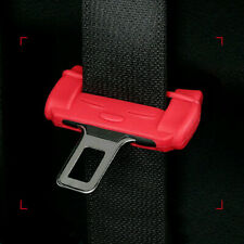 Red Car Seat Belt Buckle Clip Silicone Anti-Scratch Protector Cover Accessories