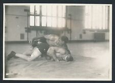 "1918 JOE STECHER, Early Wrestling Champion ""Toe Hold"" Vintage Action Photo"