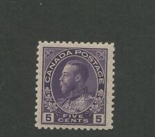 Canada 1922 King George V Admiral Issue Very Fine 5c Stamp #112 CV $60