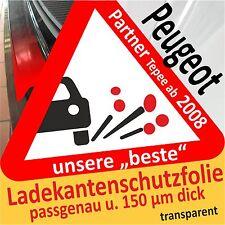 PEUGEOT PARTNER Tepee PROTEZIONE PARAURTI Pellicola AUTO di vernice protettiva