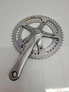 Retro Shimano RX100 Double Chainwheel Bicycle Crankset 52-42t FC-A550 #4421