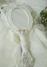 Romantischer Handspiegel Spiegel Barock Frisierkommodenspiegel Shabby Weiß