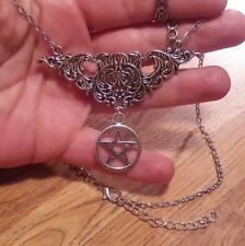 PENTAGRAM FILIGREE PENDANT PENTACLE NECKLACE WICCAN PAGAN WITCH GOTHIC
