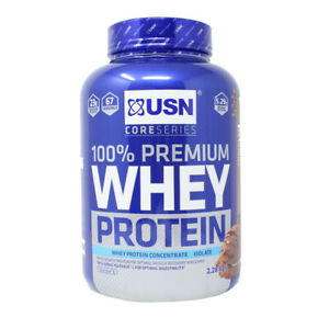 2.28kg USN Premium Whey Chocolate Protein Powder Isolate Concentrate Any Time