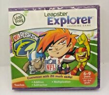 Leap Frog/ Leapster Explorer Game NFL Rush Zone  Math Game - New Sealed