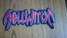 HELLWITCH,SEW ON RED WITH WHITE EDGE EMBROIDERED LARGE BACK PATCH