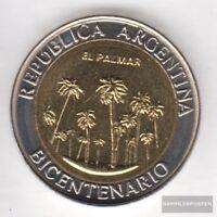 Argentinien KM-Nr. : 156 2010 Stgl./unzirkuliert Bi-Metallic Aluminium-Bronze 20