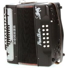 Hohner Panther 31-Key Diatonic Accordion Keys of G C F Black Laquer +Picks