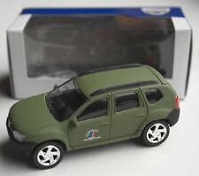 """Norev-Dacia Duster Vert Olive """"Armée de Terre"""" militaire/armée France Neuf/Neuf dans sa boîte"""