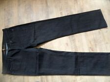 7 FOR ALL MANKIND tolle dunkle Jeans straight m. Strass Gr. 29 w. NEU KoS817