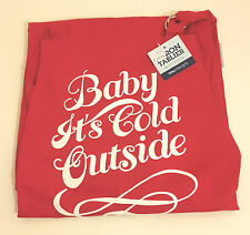 Red Cotton Apron 'Baby its Cold Outside' 71x81cm by Now Designs 16405005