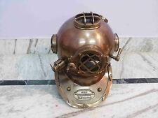 Antique Style Morse Diving Helmet U.S Navy Mark V Solid Brass Full Size 18 inch