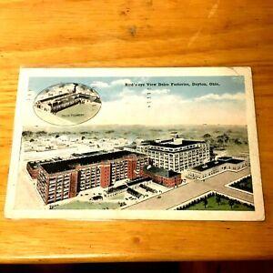 Postcard Birds Eye View Delco Factories Dayton OH