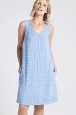 THE ARK stunning striped linen pocket shift dress Size M 12 14 $369