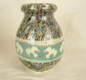 Vallauris Large 16cm+ Tall Mosaic Art pottery by Jean Gerbino France - Signed