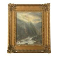 J.E. Blackmore Oil on Panel of 20th Century Landscape