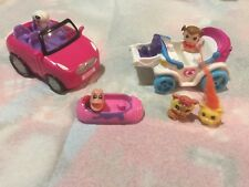 Squinkies Barbie Dream Car Princess Carriage And Small Little Vehicle Lot Sale