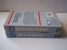 The World in Conflict. 2 VHS. Battle of Russia; Divide & Conquer. Pre-owned.