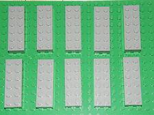LEGO 10 x LIGHT GREY BRICKS 2 x 6  No 44237 (2456) -STAR WARS-HARRY POTTER-CITY