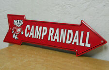 "Wisconsin Badgers Arrow Sign "" Camp Randall "" New  20 x 6"